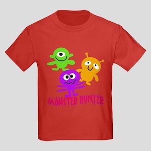 Monster Hunter with MONSTERS Kids Dark T-Shirt
