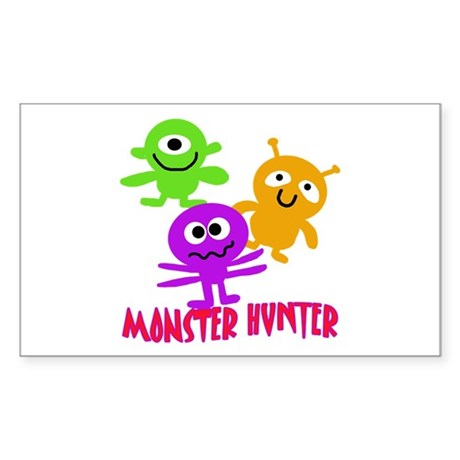 Monster Hunter with MONSTERS Sticker (Rectangle)