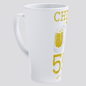 Cheers and Beers 55th Birthday Gif 17 oz Latte Mug