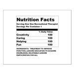 Recreation Therapy Nutrition Small Poster