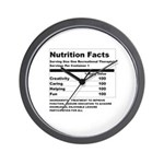 Recreation Therapy Nutrition Wall Clock