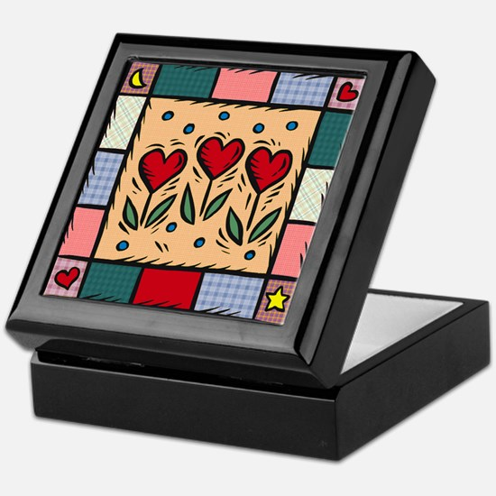 Cute Quilter Keepsake Box