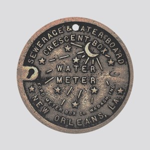 New Orleans Meter Cover Ornament (Round)