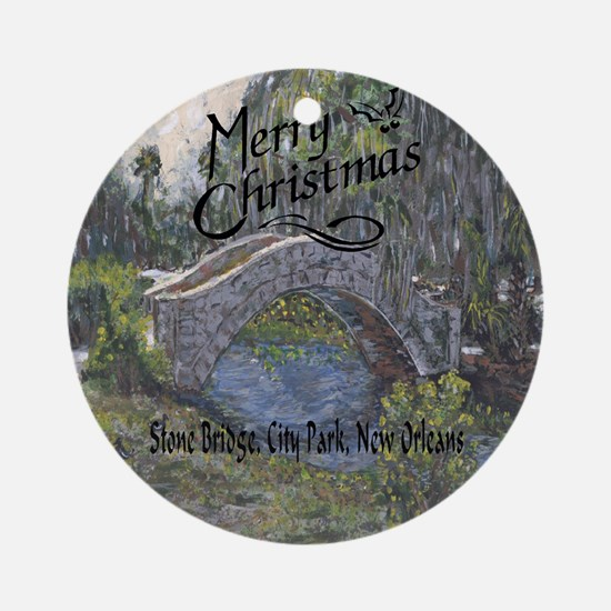 City PArk Bridge Ornament (Round)