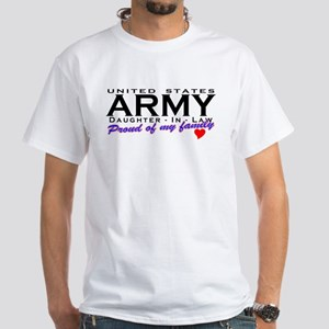US Army Daughter-In-Law White T-Shirt