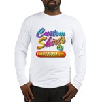 Add Your Message To A Custom Long Sleeve T-Shirt