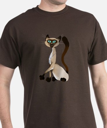 Big Siamese Kitty T-Shirt