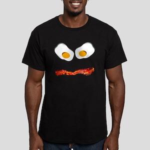 bacon boy Men's Fitted T-Shirt (dark)