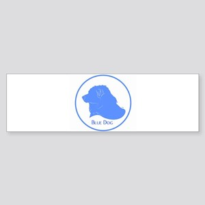 Blue Dog Logo Bumper Sticker