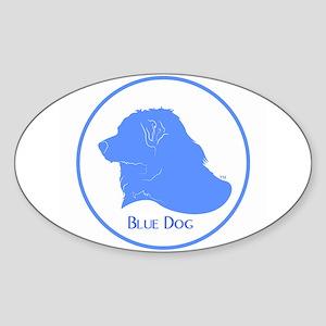 Blue Dog Logo Oval Sticker