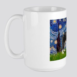 Starry / Border Collie (Z) Large Mug