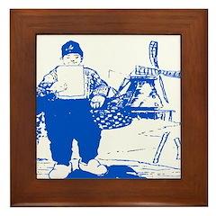 Blue Dutch Framed Tile
