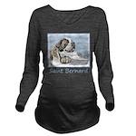 Saint Bernard Long Sleeve Maternity T-Shirt