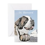 Saint Bernard Greeting Card