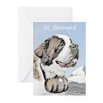 Saint Bernard Greeting Cards (Pk of 10)