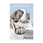 Saint Bernard Mini Poster Print