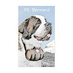 Saint Bernard Sticker (Rectangle)