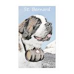 Saint Bernard Sticker (Rectangle 10 pk)
