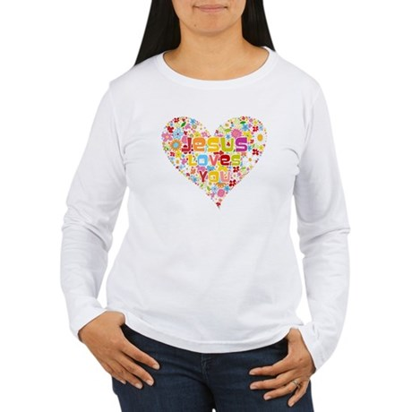 Jesus Loves You Women's Long Sleeve T-Shirt