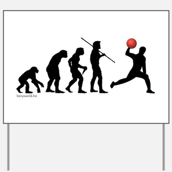 Dodgeball Evolution Yard Sign