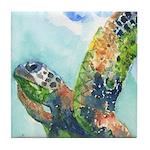 Sea Turtle 27 Tile Coaster