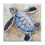 Sea Turtle 29 Tile Coaster