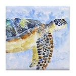 Sea Turtle 25 Tile Coaster