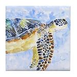 Sea Turtle 25 Tile Coaster