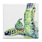 Sea Turtle 22 Tile Coaster