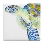 Sea Turtle 19 Tile Coaster