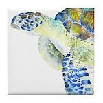 Sea Turtle 19 Tile Coaster