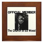 OFFICIAL Church of Ed Wood Framed Tile