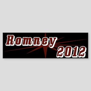 Romney 2012 Black Bumper Sticker