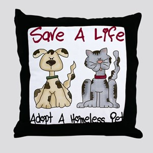 Adopt A Homeless Pet Throw Pillow
