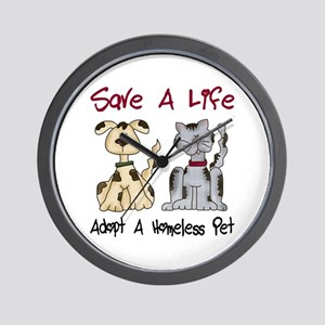 Adopt A Homeless Pet Wall Clock