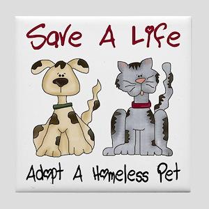 Adopt A Homeless Pet Tile Coaster