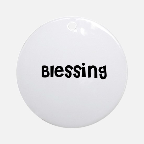 Blessing Ornament (Round)