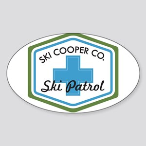 Ski Cooper Ski Patrol Badge Sticker (Oval)
