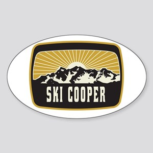 Ski Cooper Sunshine Patch Sticker (Oval)