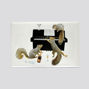 Squirrels at Piano Rectangle Magnet