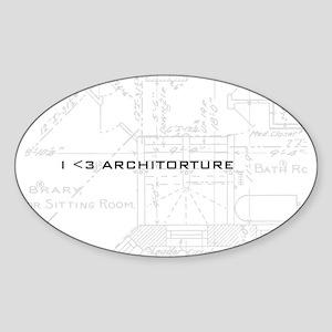 Architorture Oval Sticker