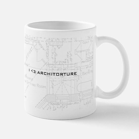 Blueprint mugs cafepress architorture mug malvernweather Gallery