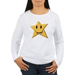 Smiley Juicy Rainbow Star Women's Long Sleeve T-Sh
