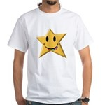 Smiley Juicy Rainbow Star White T-Shirt