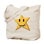 Smiley Juicy Rainbow Star Tote Bag