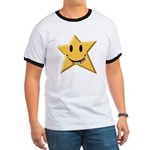 Smiley Juicy Rainbow Star Ringer T