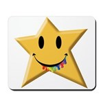 Smiley Juicy Rainbow Star Mousepad