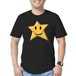 Smiley Juicy Rainbow Star Men's Fitted T-Shirt (da