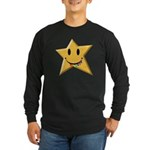 Smiley Juicy Rainbow Star Long Sleeve Dark T-Shirt