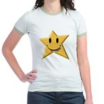Smiley Juicy Rainbow Star Jr. Ringer T-Shirt